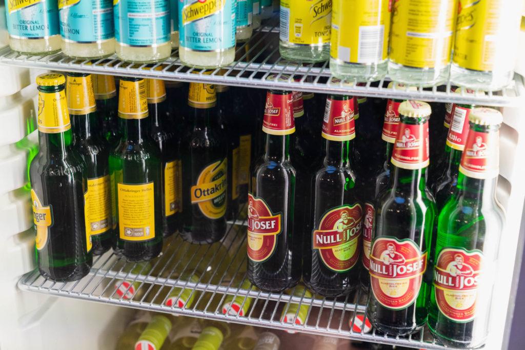 ウィーン国際空港 オーストリア航空ビジネスクラスラウンジ ビール