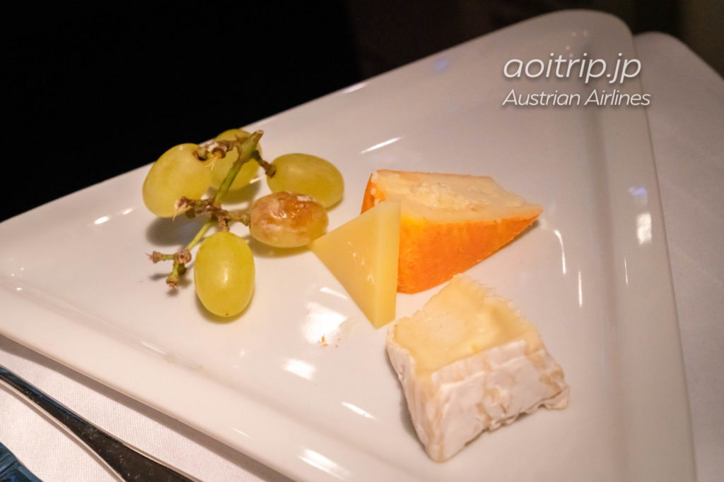 オーストリア航空OS51便 ビジネスクラス機内食