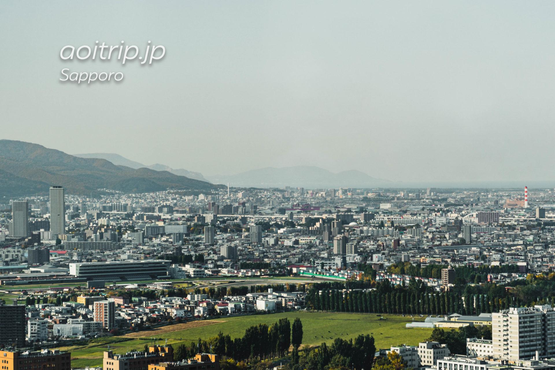 札幌JRタワー展望室T38からの眺望 北側(小樽)