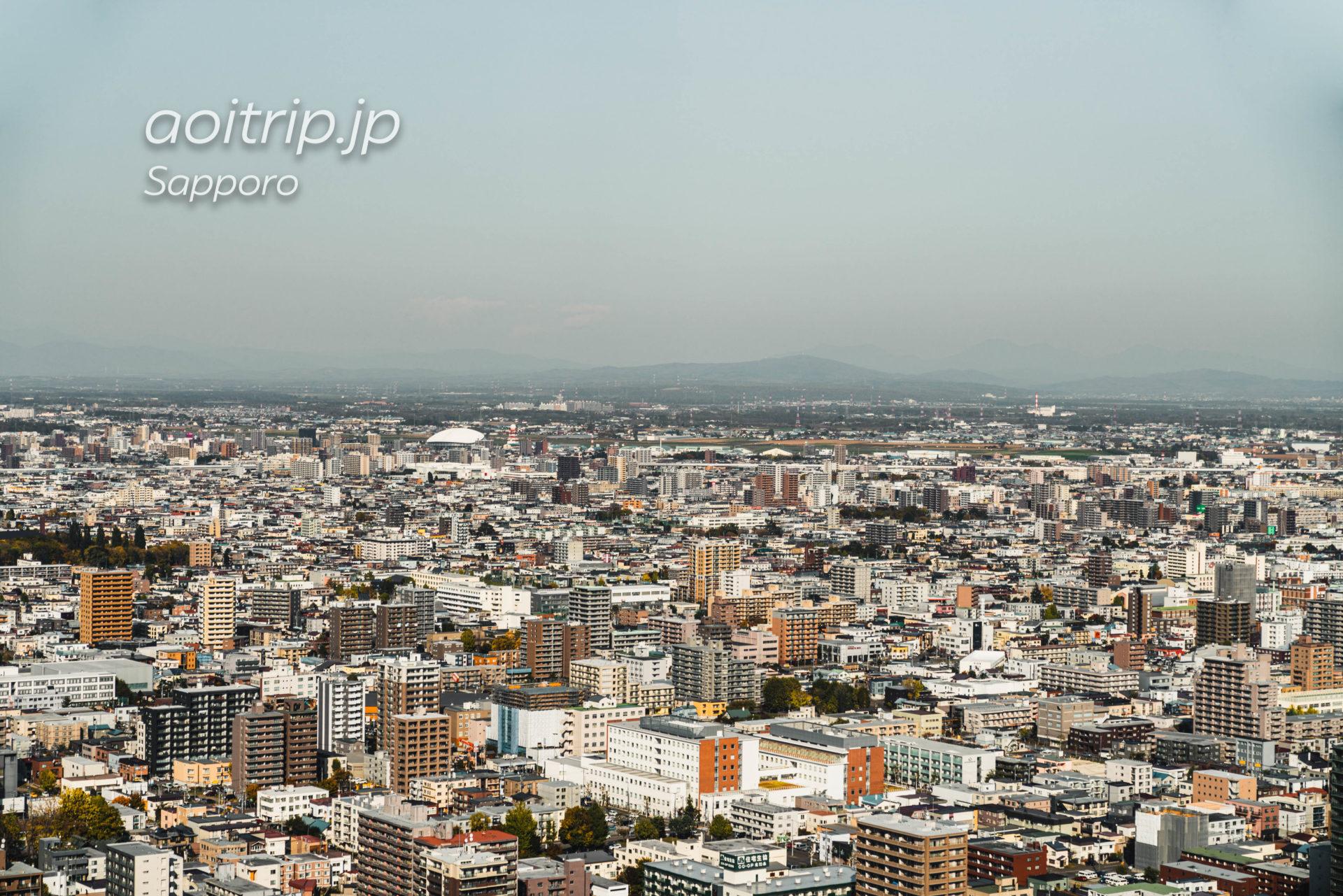札幌JRタワー展望室T38からの眺望 北側(丘珠空港)