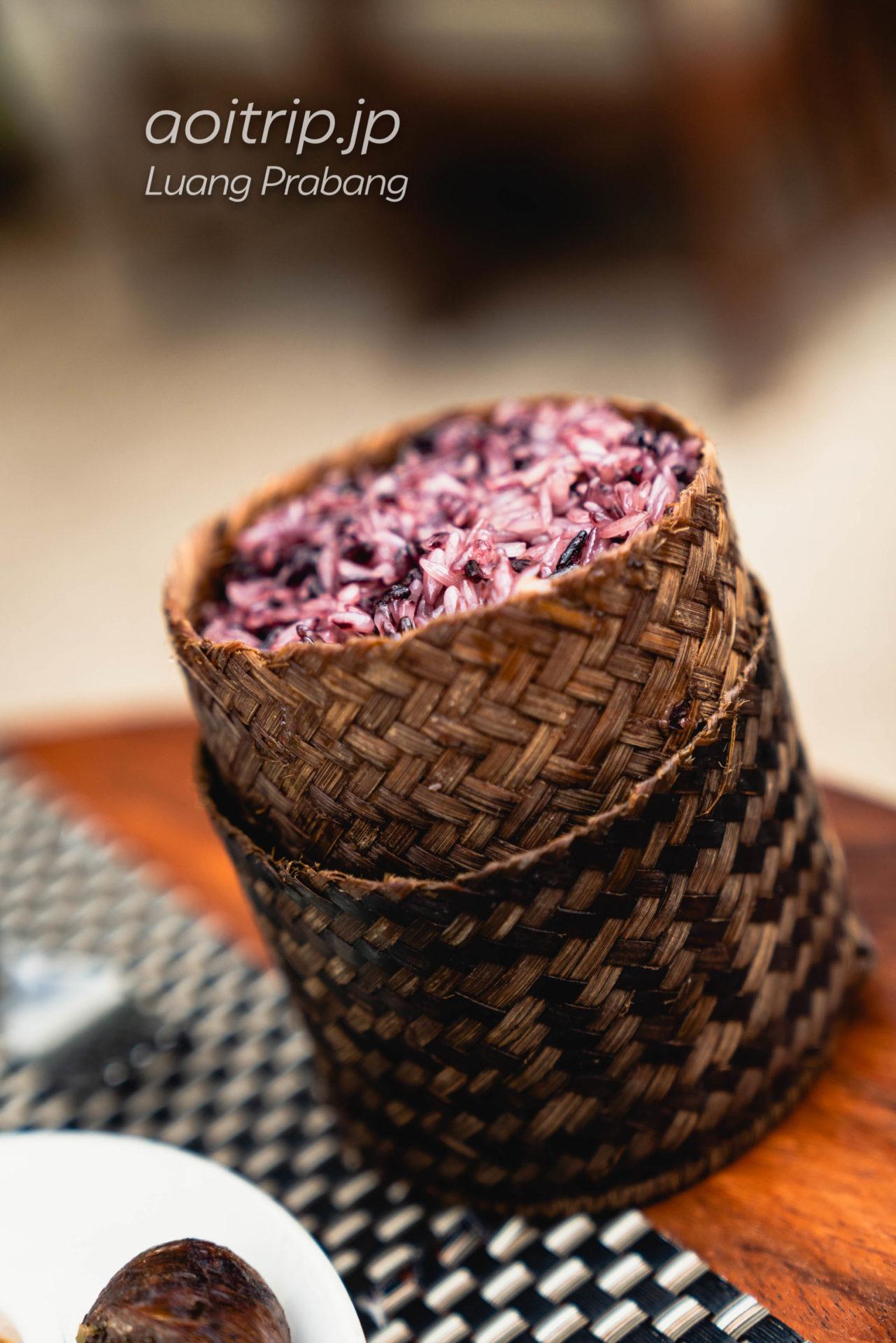 ルアンパバーンのCoconut Garden Kha Niao 10,000キープ(Steamed Sticky Rice)