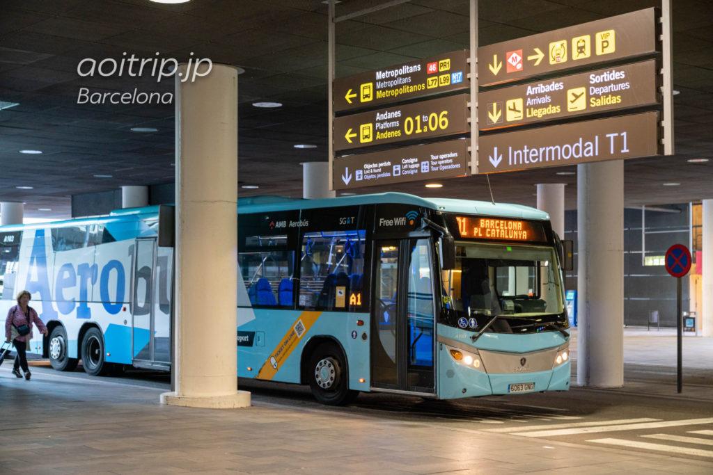 バルセロナ空港のエアポートバス