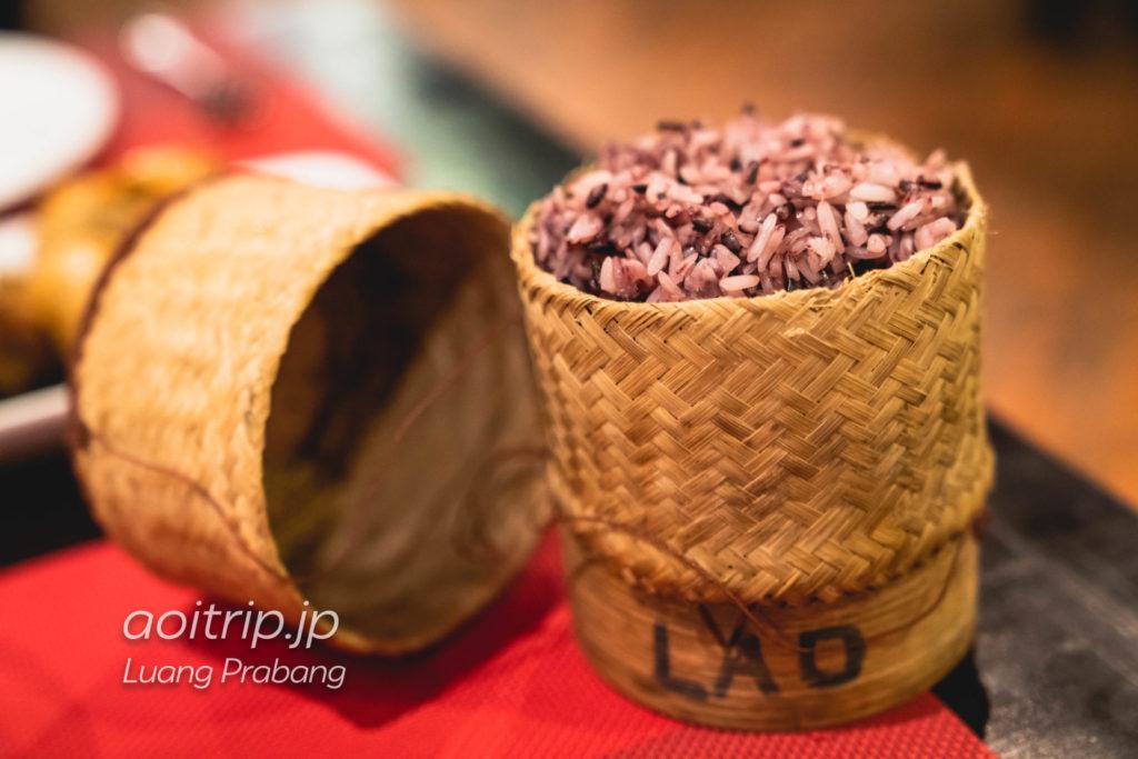 ルアンパバーンのTamnak Lao Restaurant Khao Niao 10,000キープ(Steamed Sticky Rice)