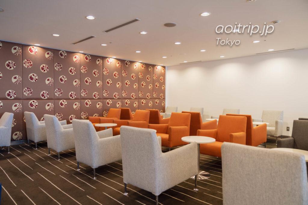 成田空港のカンタス航空ラウンジ