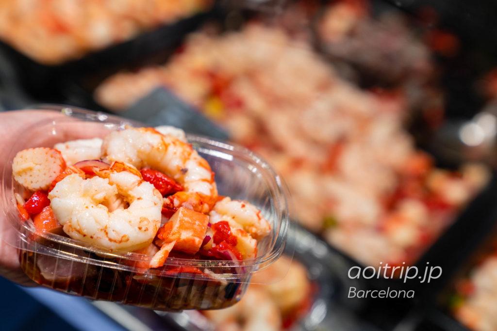 バルセロナのボケリア市場 La Boqueria