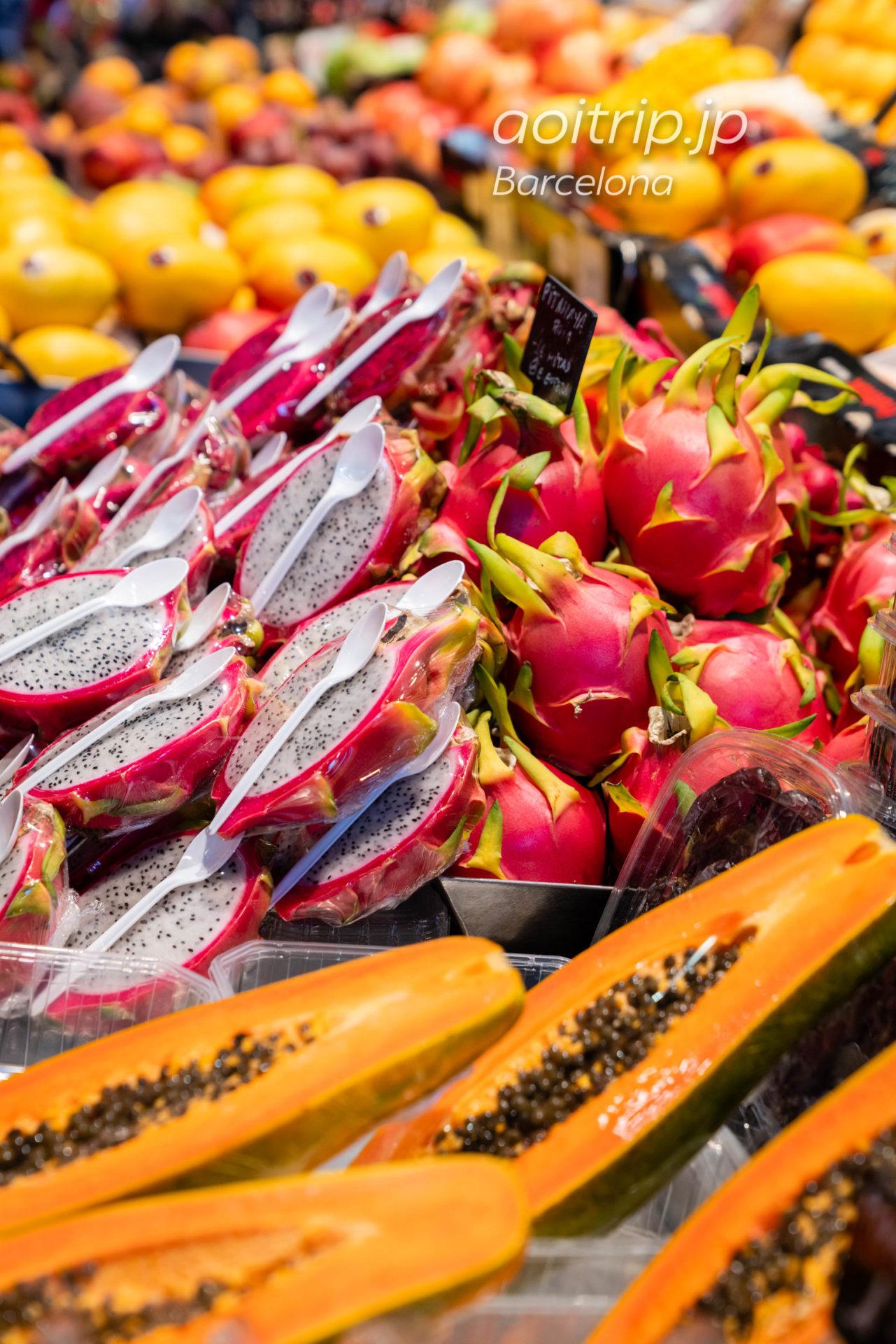 ボケリア市場(La Boqueria)フルーツ