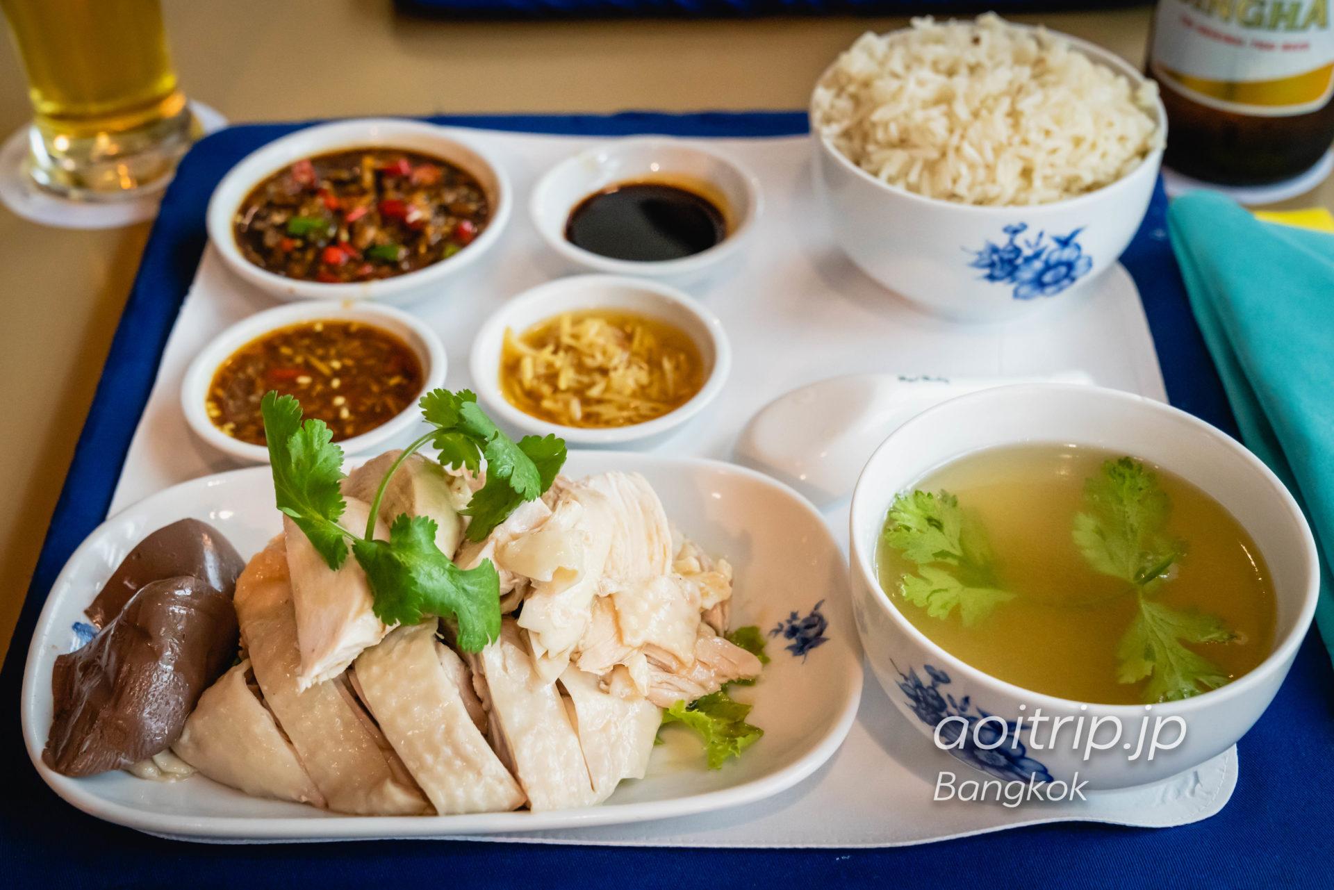 バンコク モンティエン ホテルのカオマンガイ(海南鶏飯)