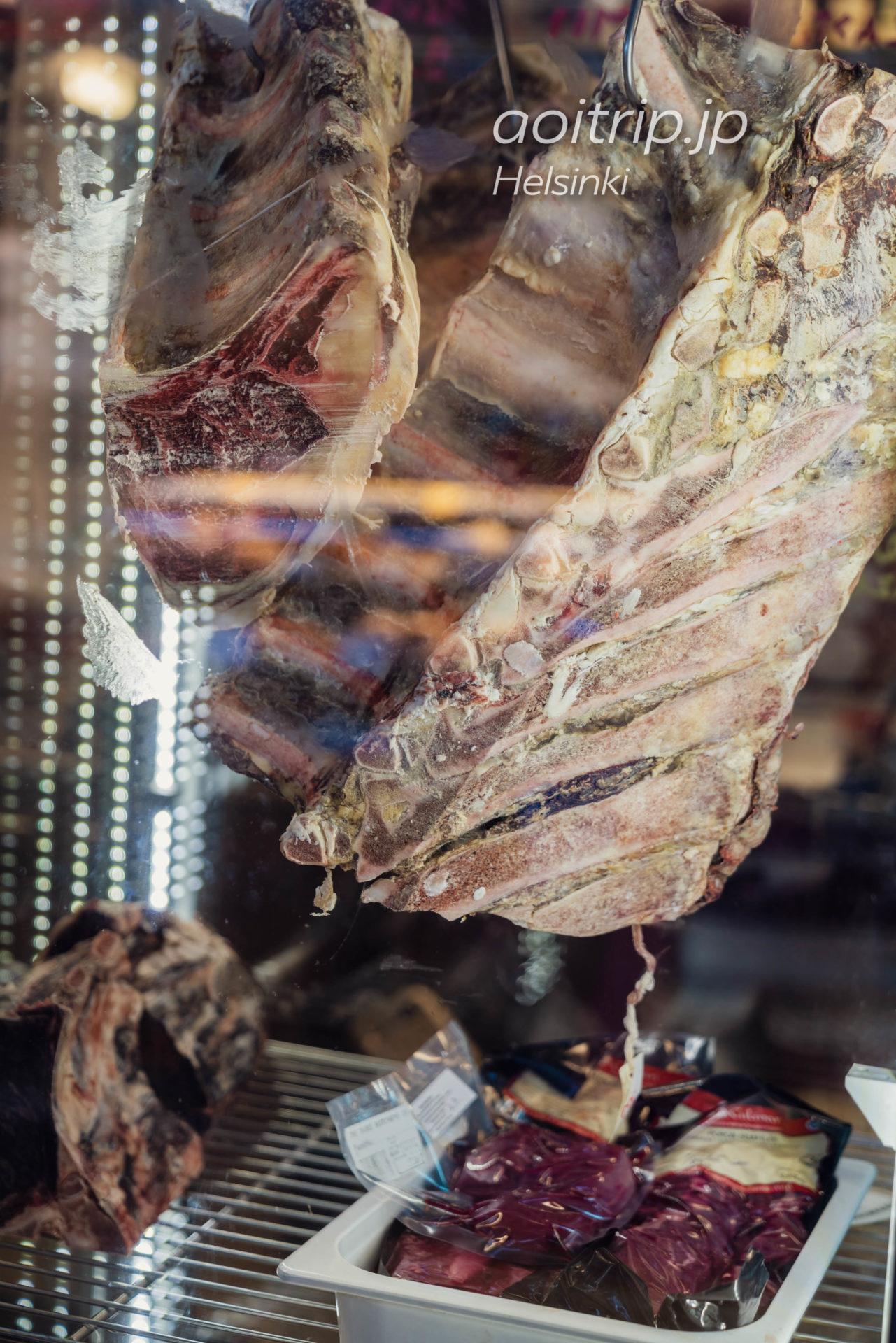 ヘルシンキのオールドマーケットホール トナカイ肉