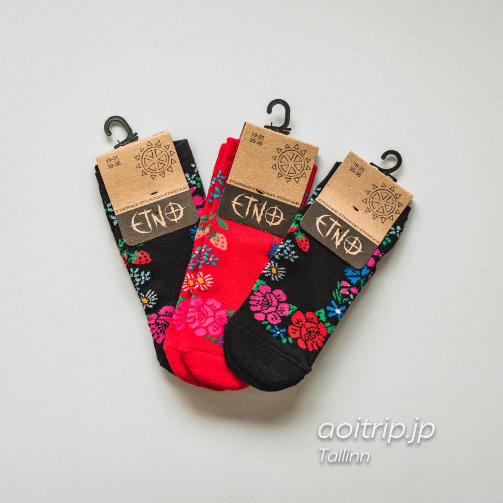 エストニア・タリンの雑貨屋さんOma Asiで購入した靴下