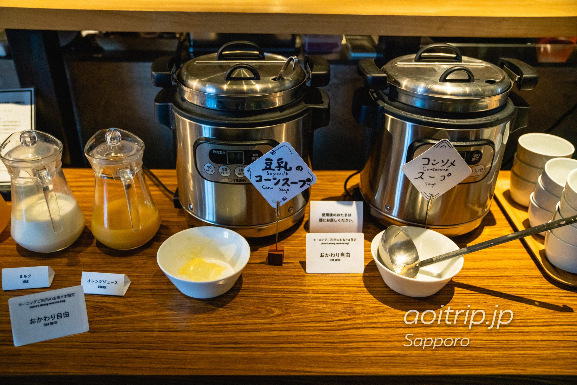 ホテル ポットマムの1Fモリヒココーヒーの朝食