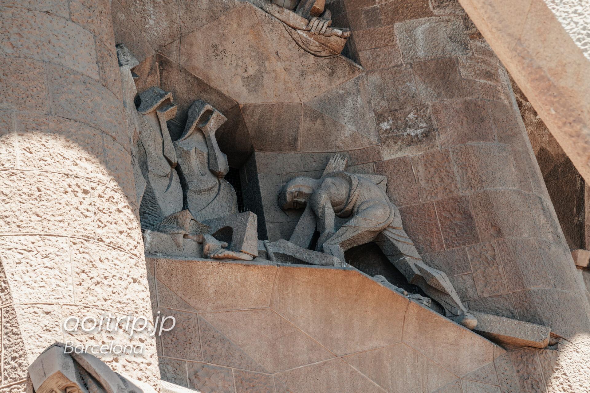 Basílica de la Sagrada Família(Façana de la Passió, Longinus on a horse)
