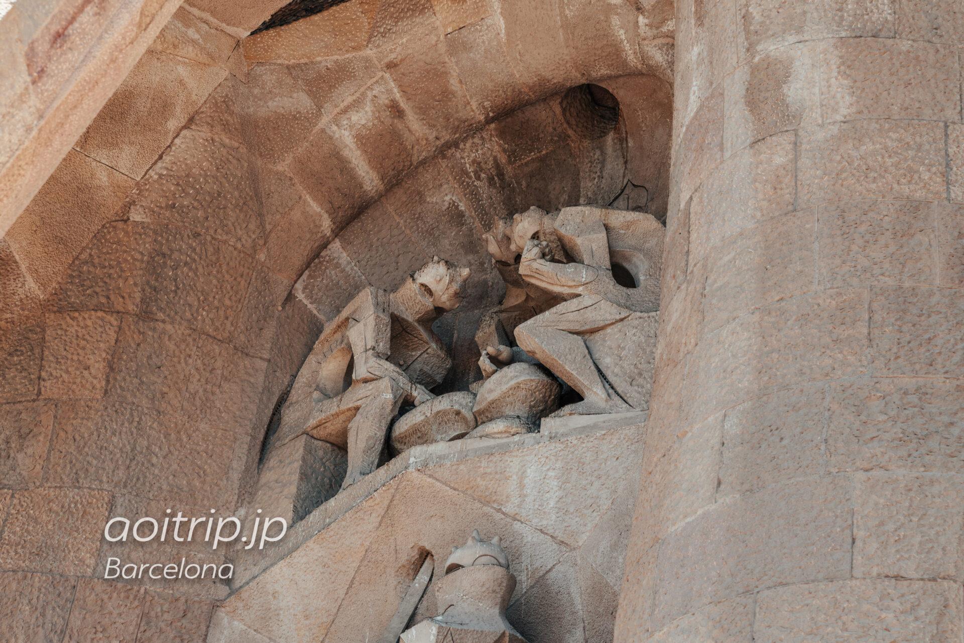 Basílica de la Sagrada Família(Façana de la Passió, The soldiers playing for the tunic of Jesus)