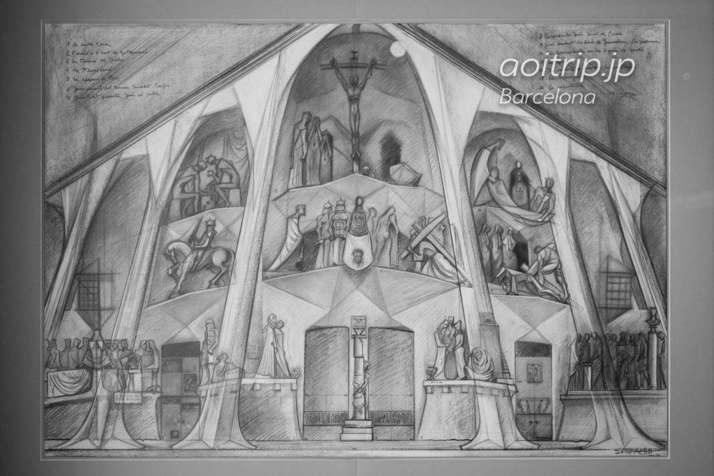 スビラックスが描いた受難のファサードのデザイン