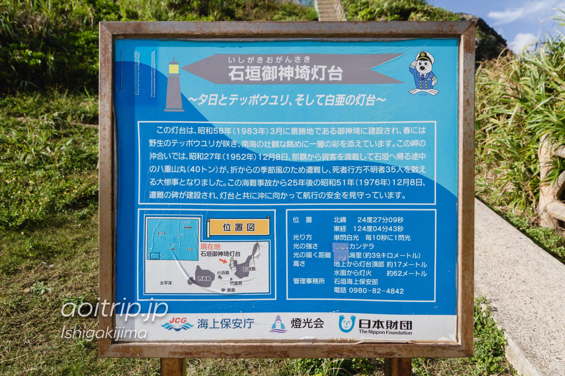 石垣御神崎灯台の解説