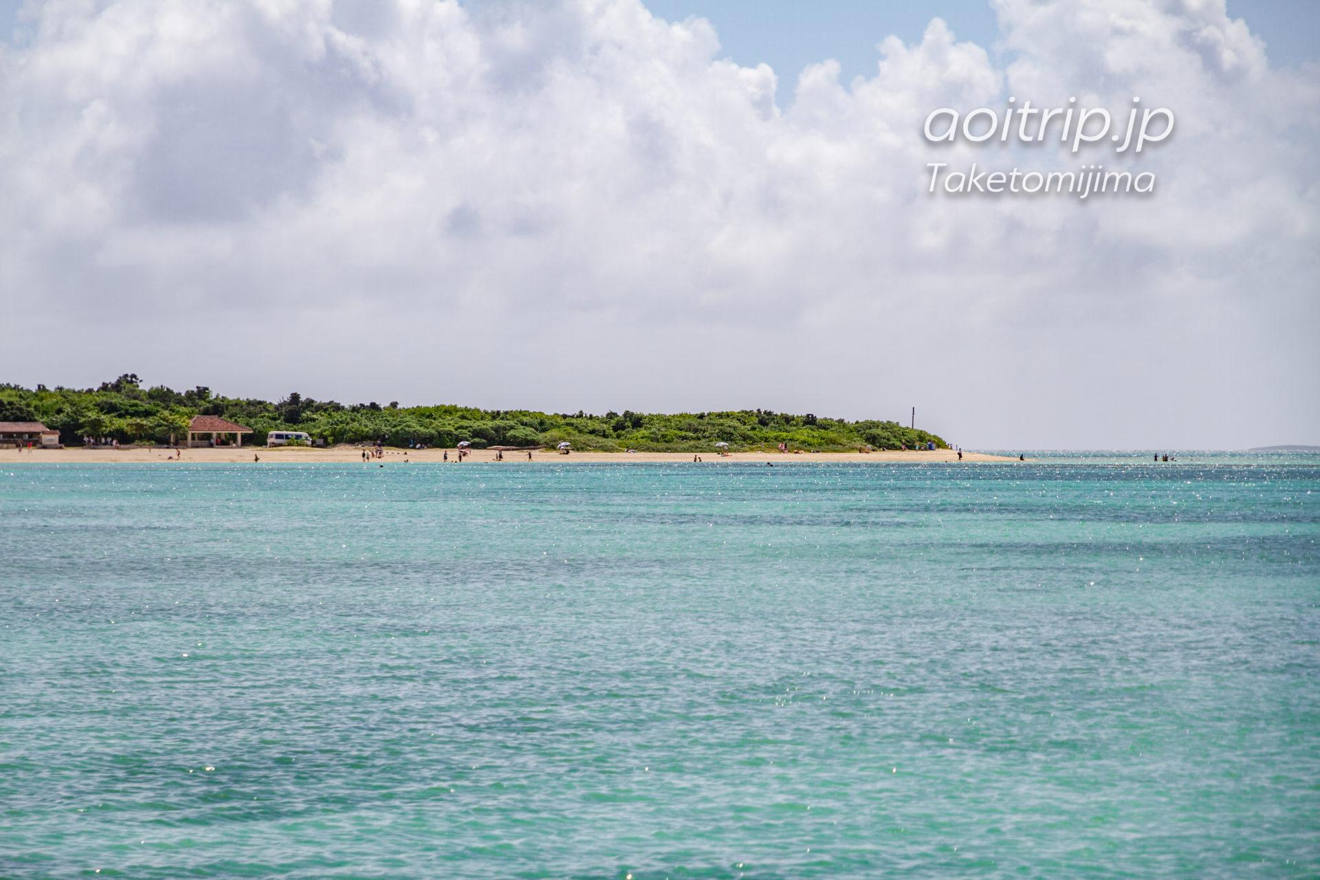 竹富島の西桟橋から望むコンドイビーチ