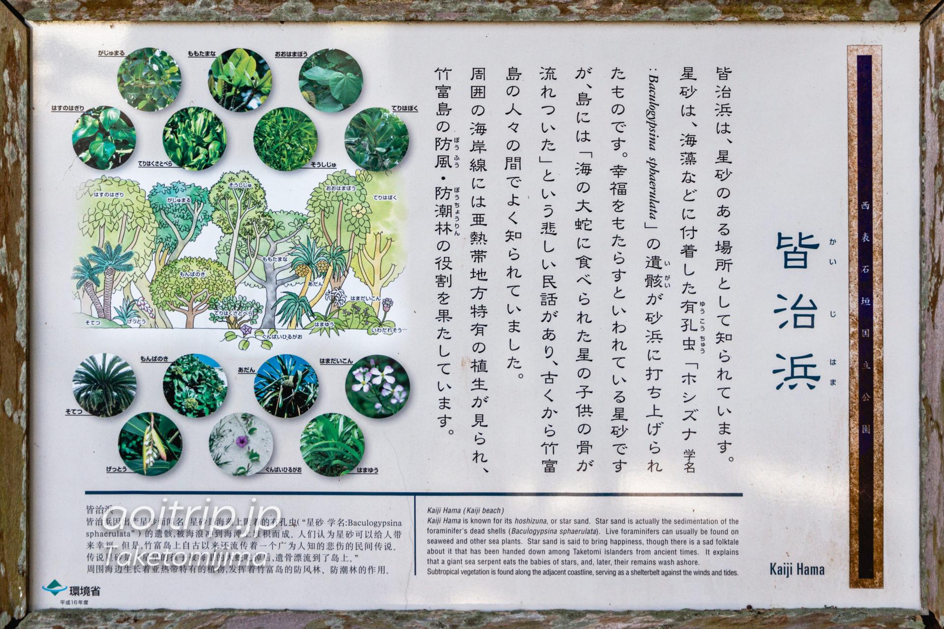 竹富島 カイジ浜の解説