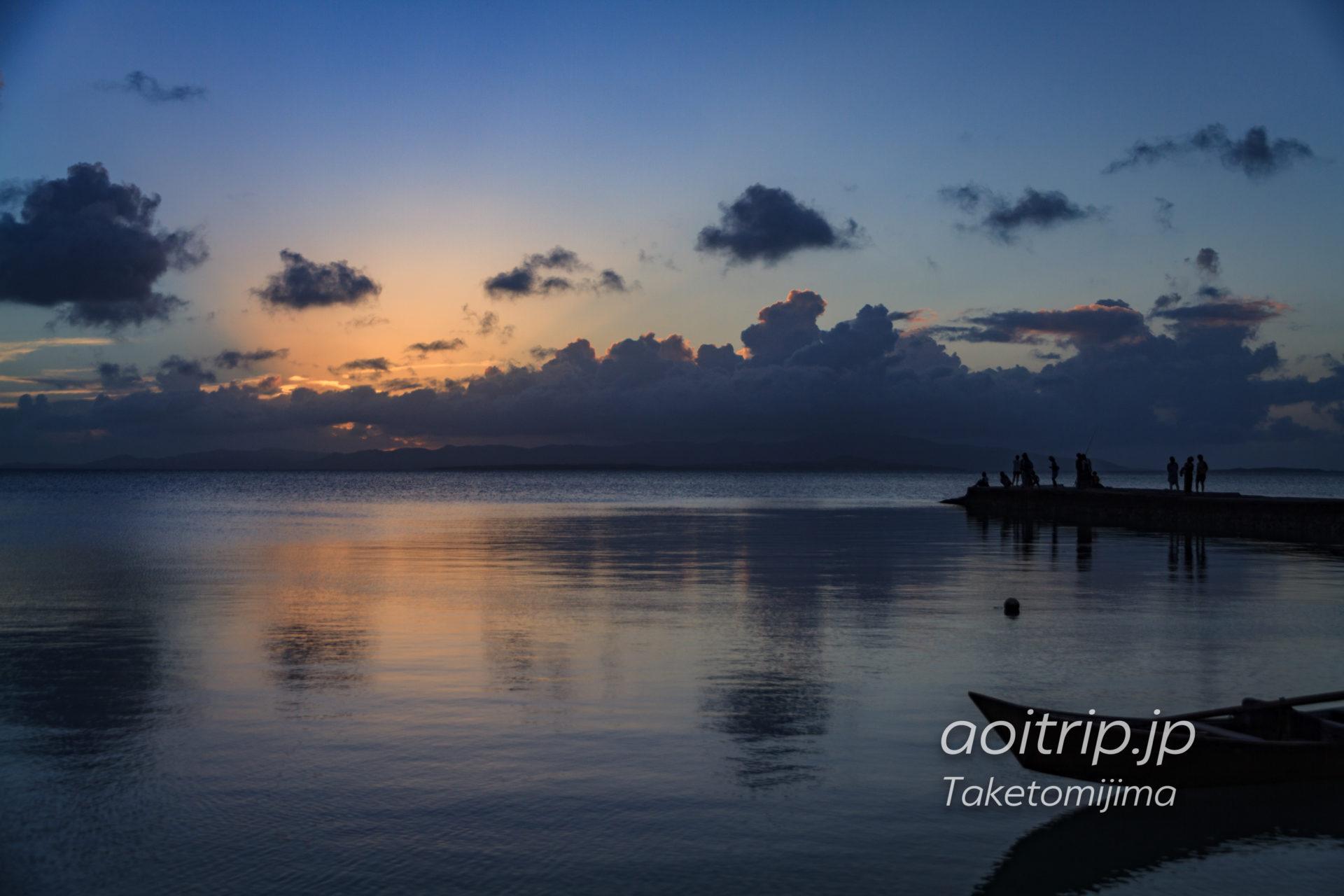 竹富島 西桟橋の夕日