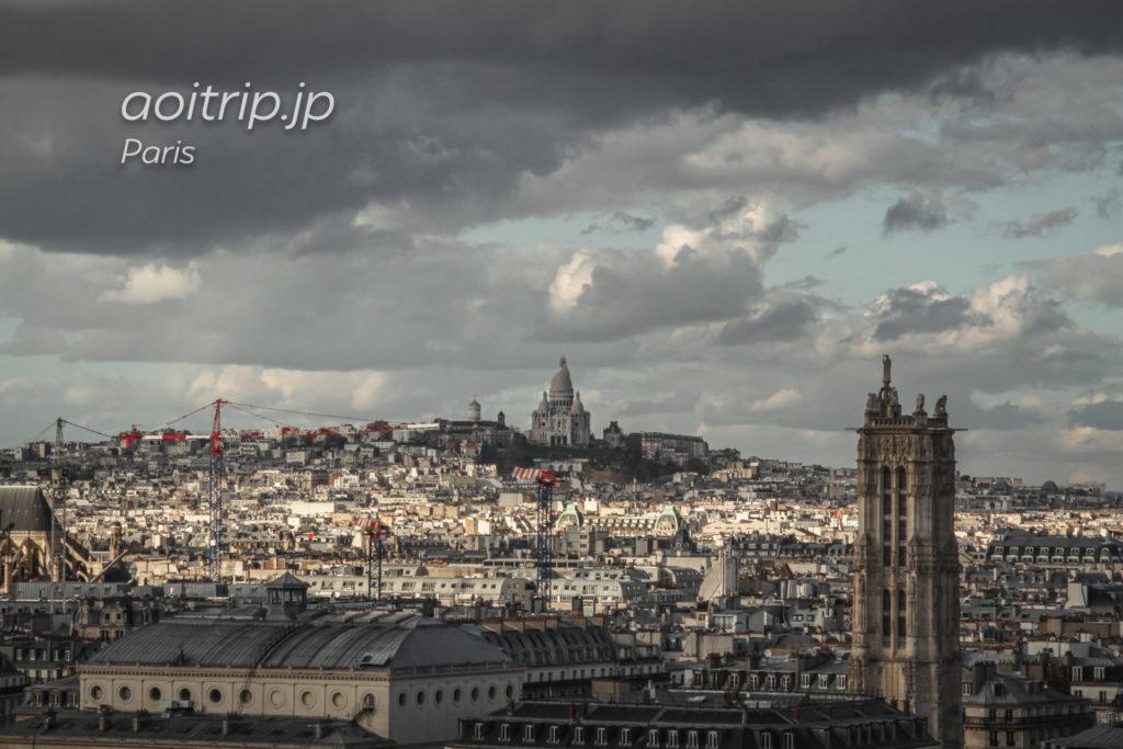 ノートルダム大聖堂(Cathédrale Notre-Dame de Paris)から望むサクレクール寺院