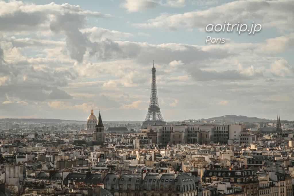 ノートルダム大聖堂(Cathédrale Notre-Dame de Paris)から望むパリ市内・エッフェル塔