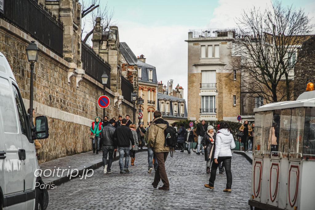 パリ モンマルトルのテルトル広場 Place du Tertre