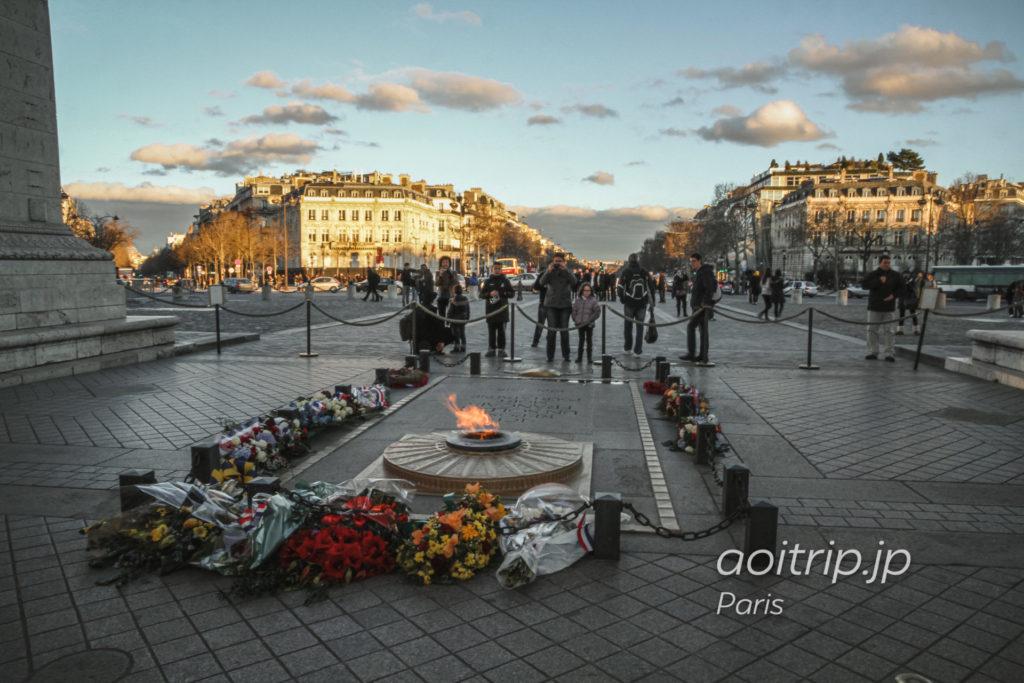 パリ エトワール凱旋門の無名戦士の墓