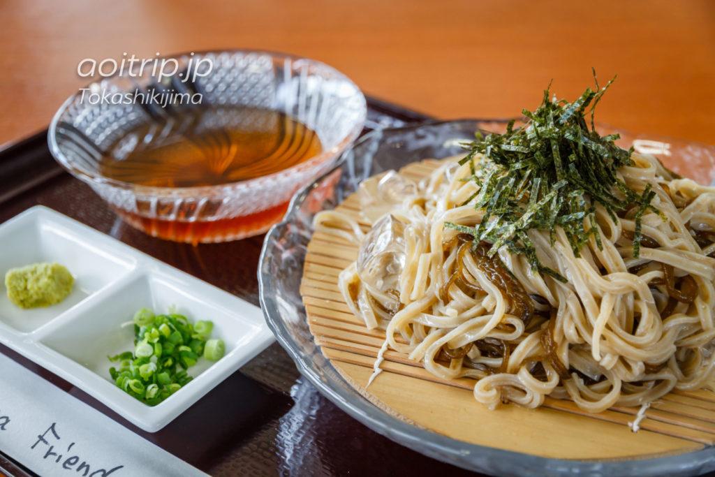 渡嘉敷島 シーフレンドのもずくざる蕎麦