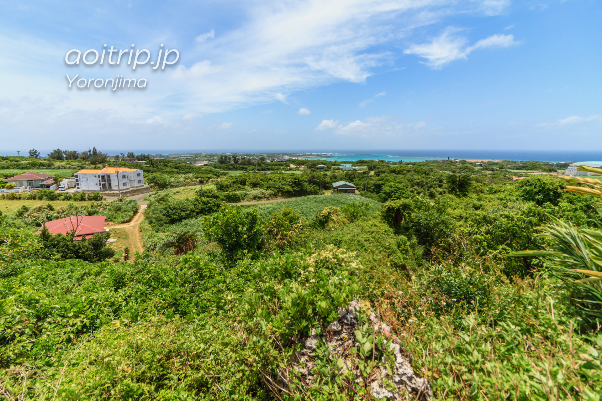 与論島 舵引き丘 西側の眺望