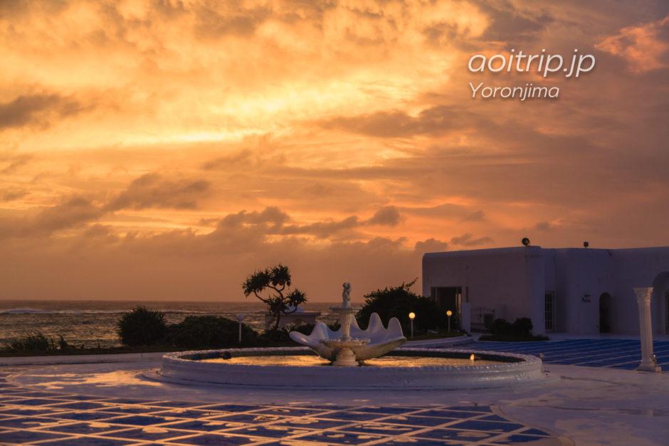 与論島プリシアリゾートヨロンの夕焼け