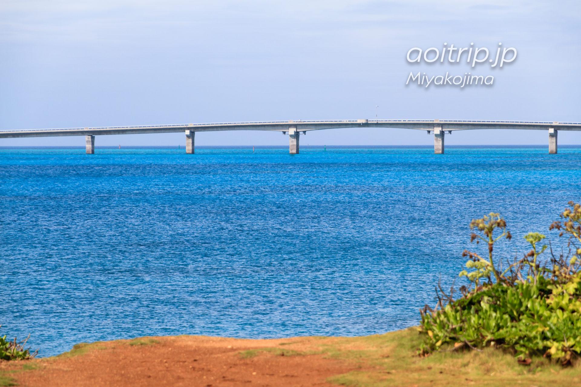 西平安名崎から望む池間大橋