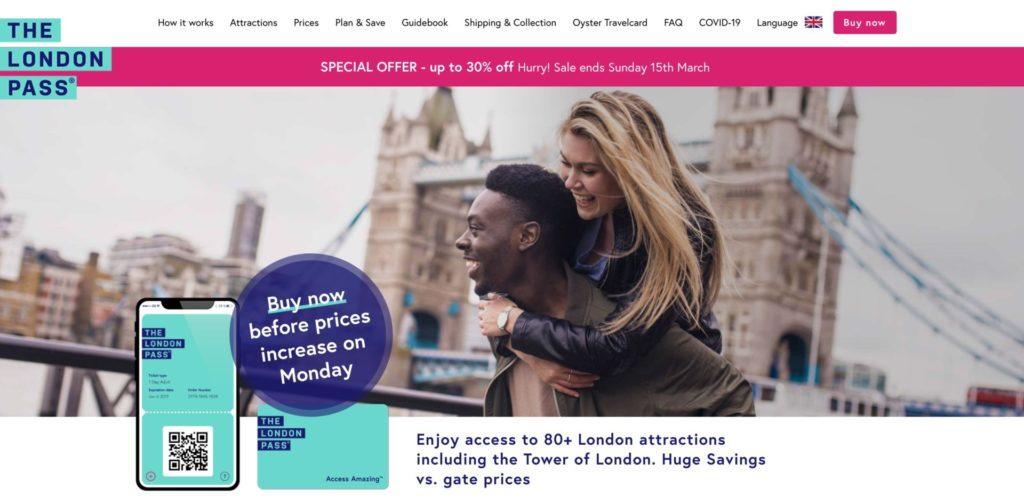 ロンドン観光でお得?ロンドンパスの料金・割引情報と購入方法