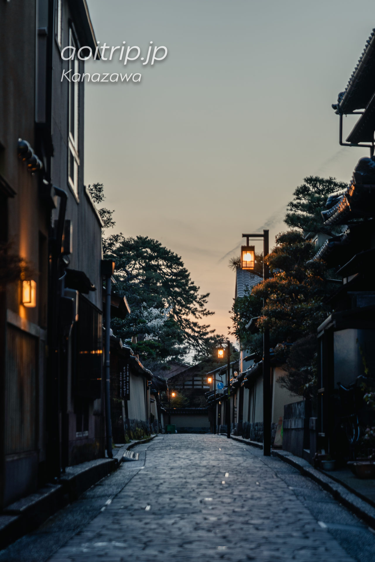金沢 夜の長町武家屋敷