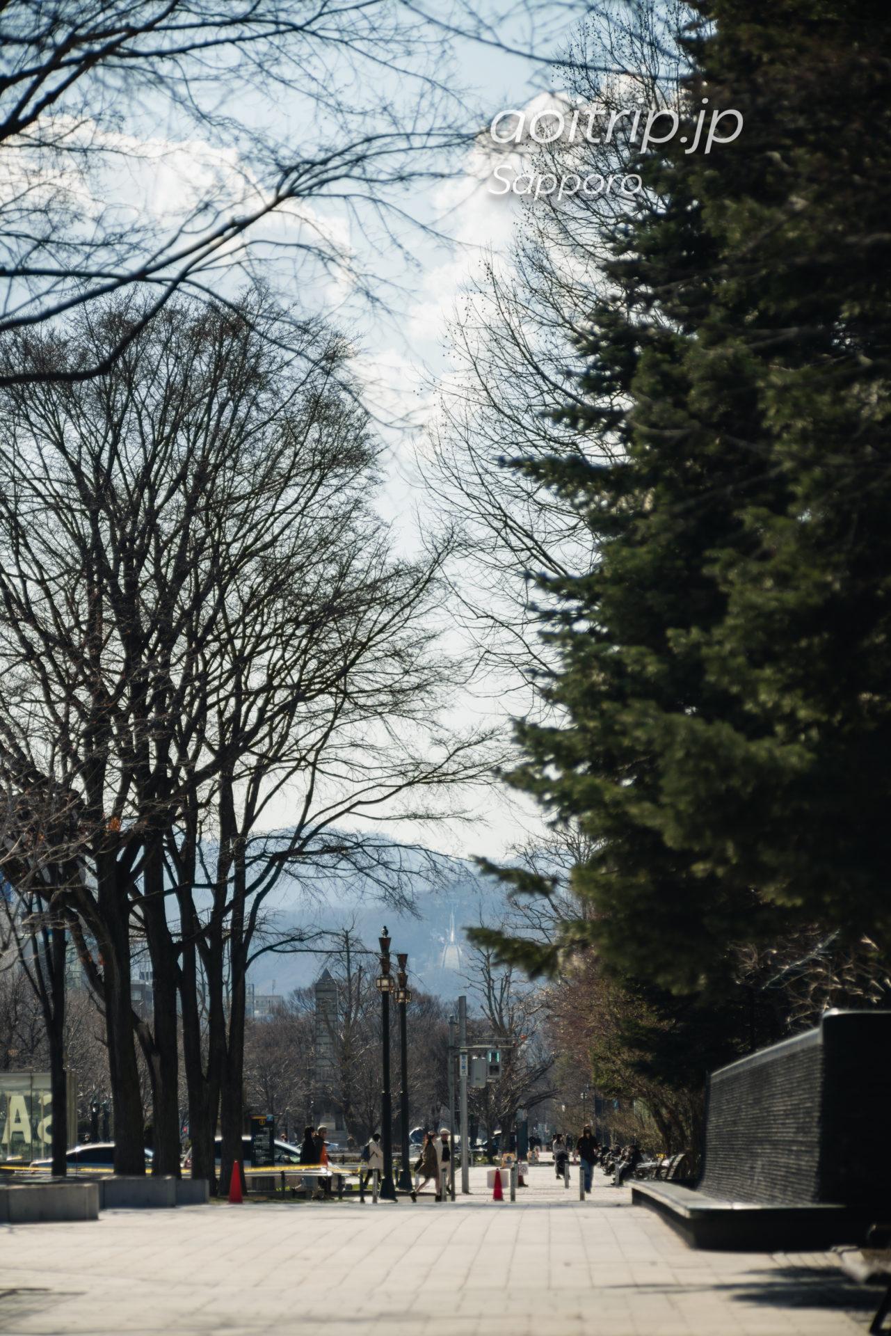 日本光学 Nikon Nikkor-Q・C 135mm F3.5の作例 札幌大通公園から大倉山ジャンプ競技場