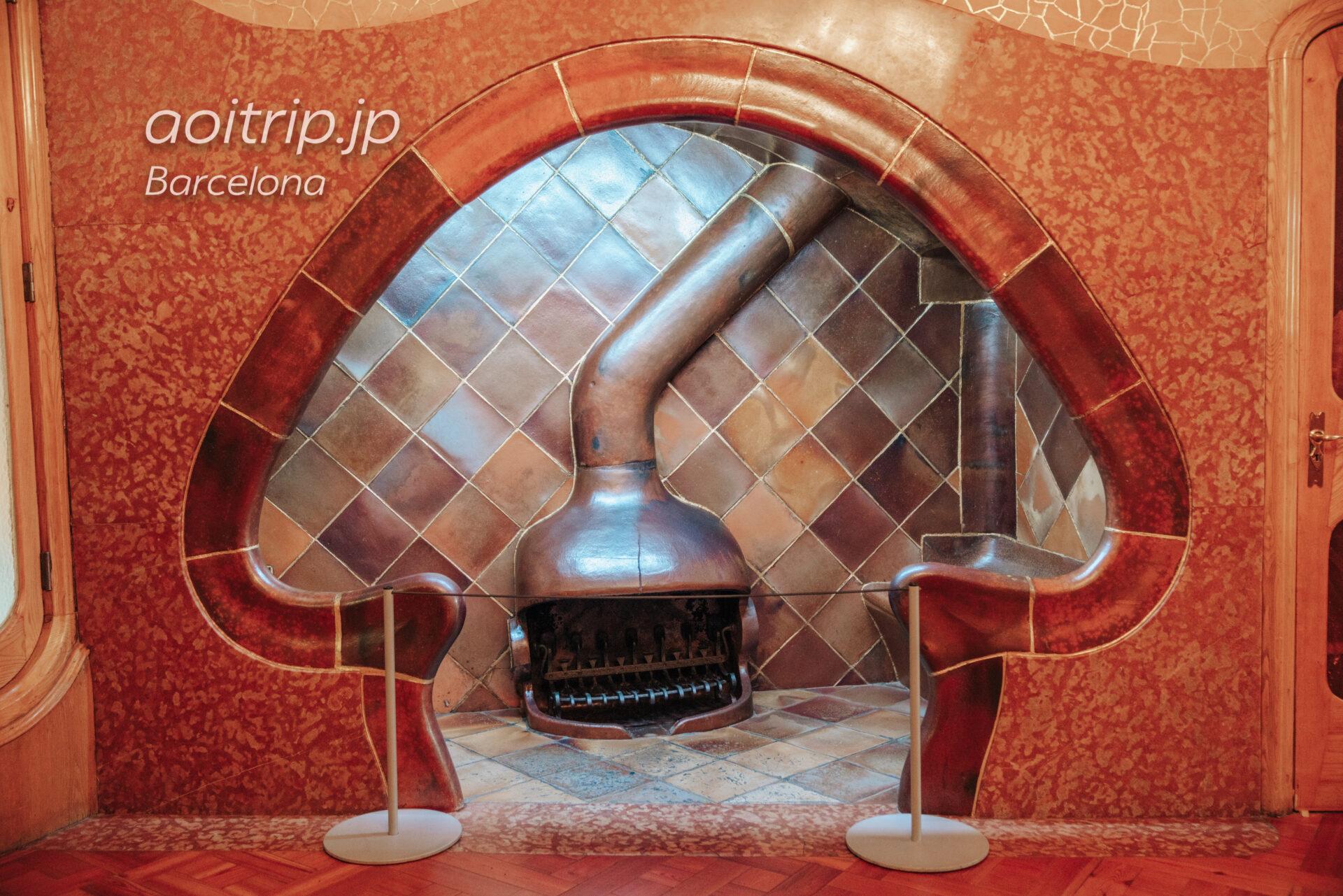 カサバトリョのキノコ型の暖炉