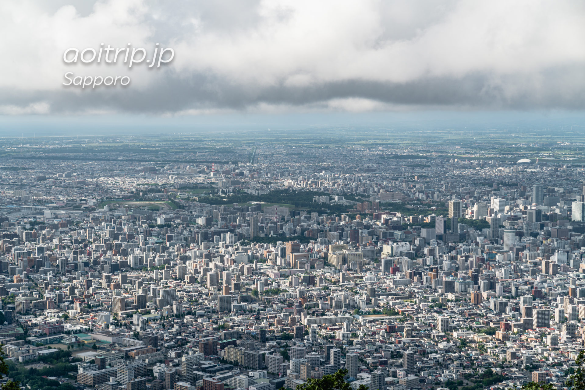 藻岩山展望台から望む北海道大学