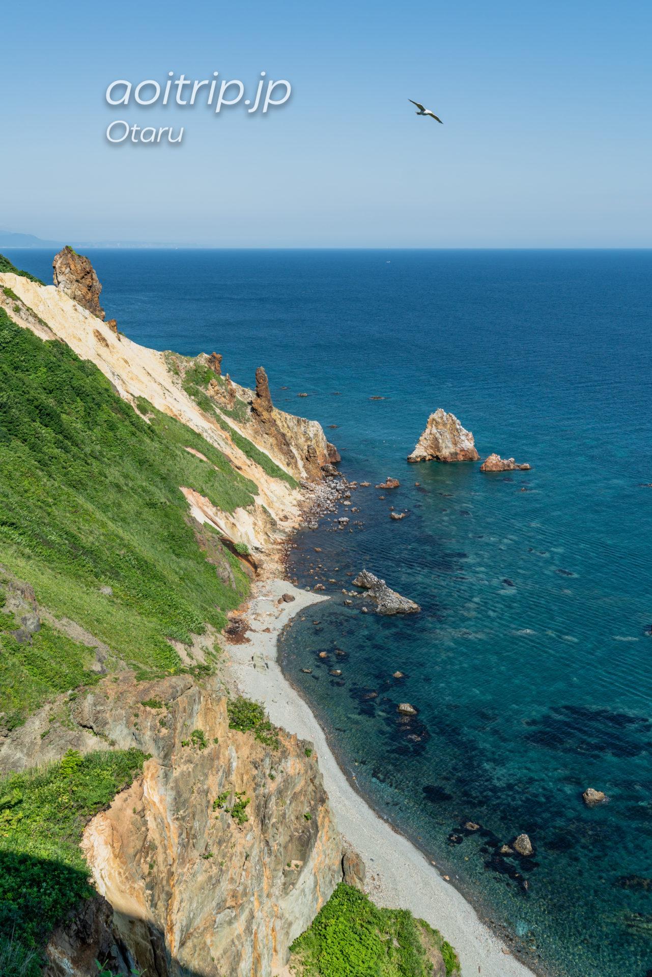 ホテルノイシュロス小樽から望む祝津ブルーの海