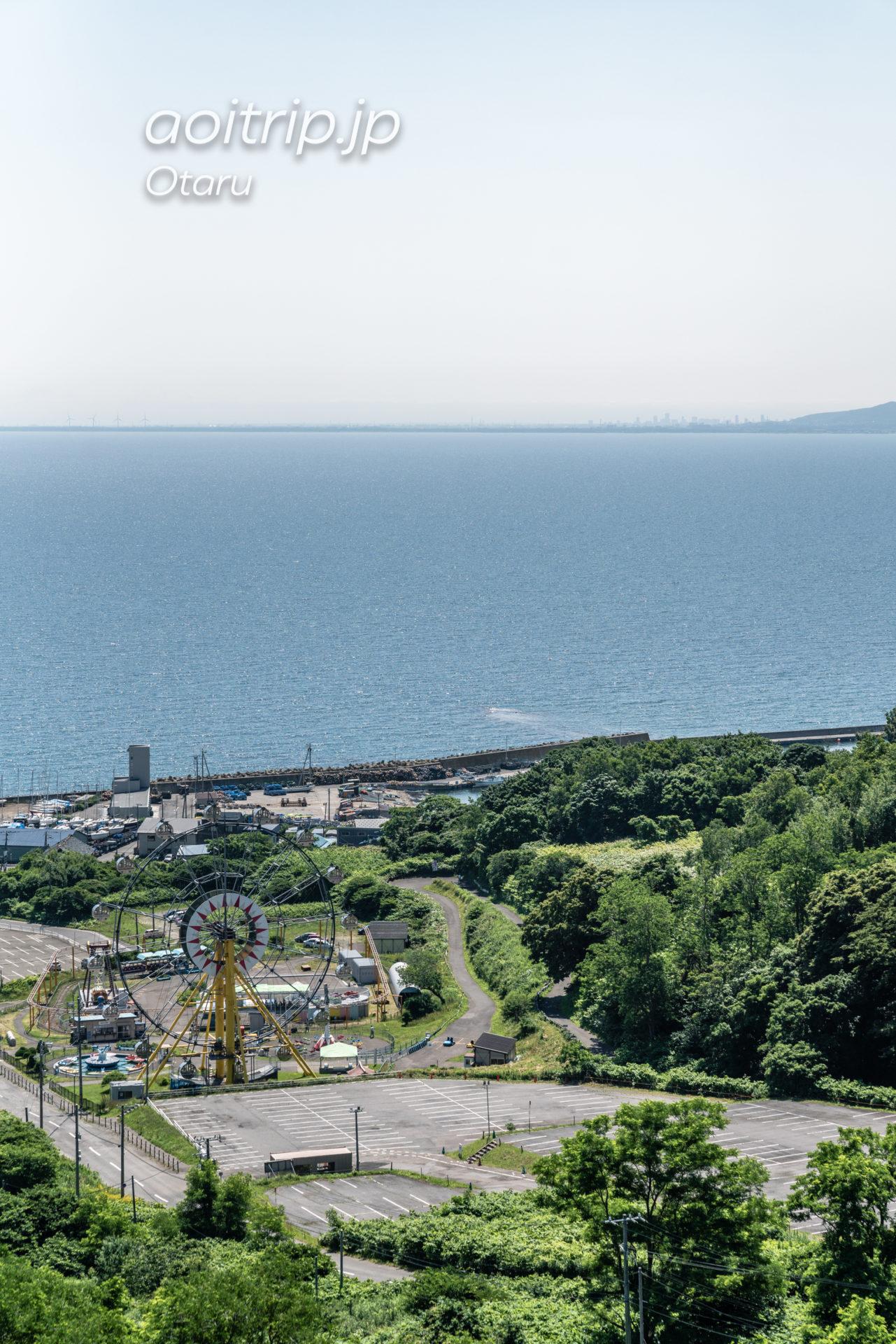 ホテルノイシュロス小樽 6Fの展望デッキ