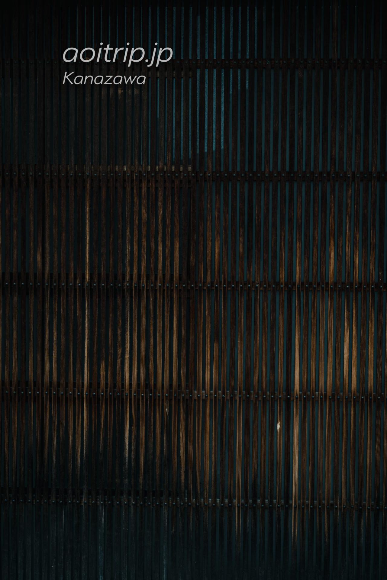 金沢 ひがし茶屋街の木虫籠