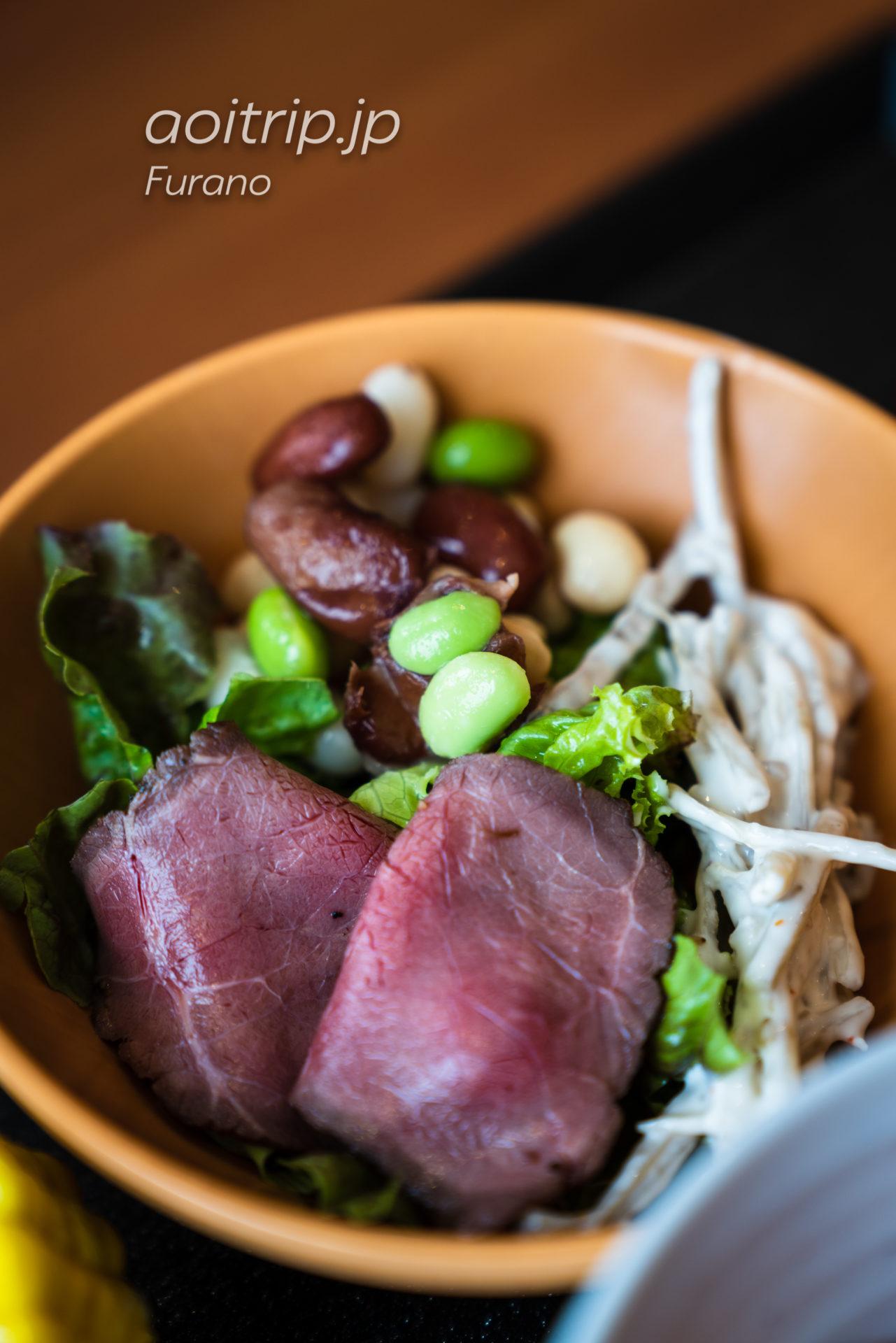 ラビスタ富良野ヒルズの朝食ビュッフェ ローストビーフ