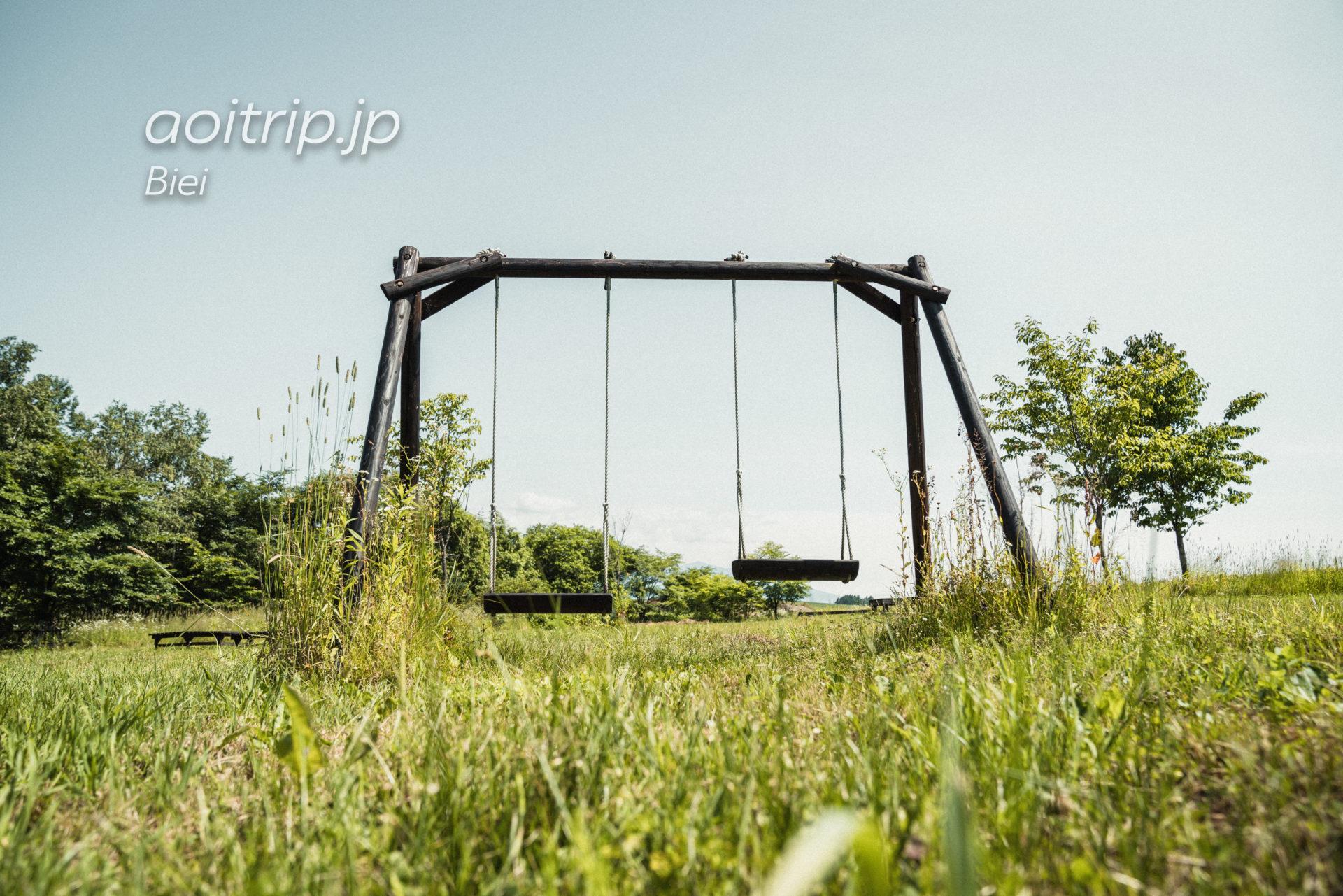 美瑛のリッカロッカのお庭