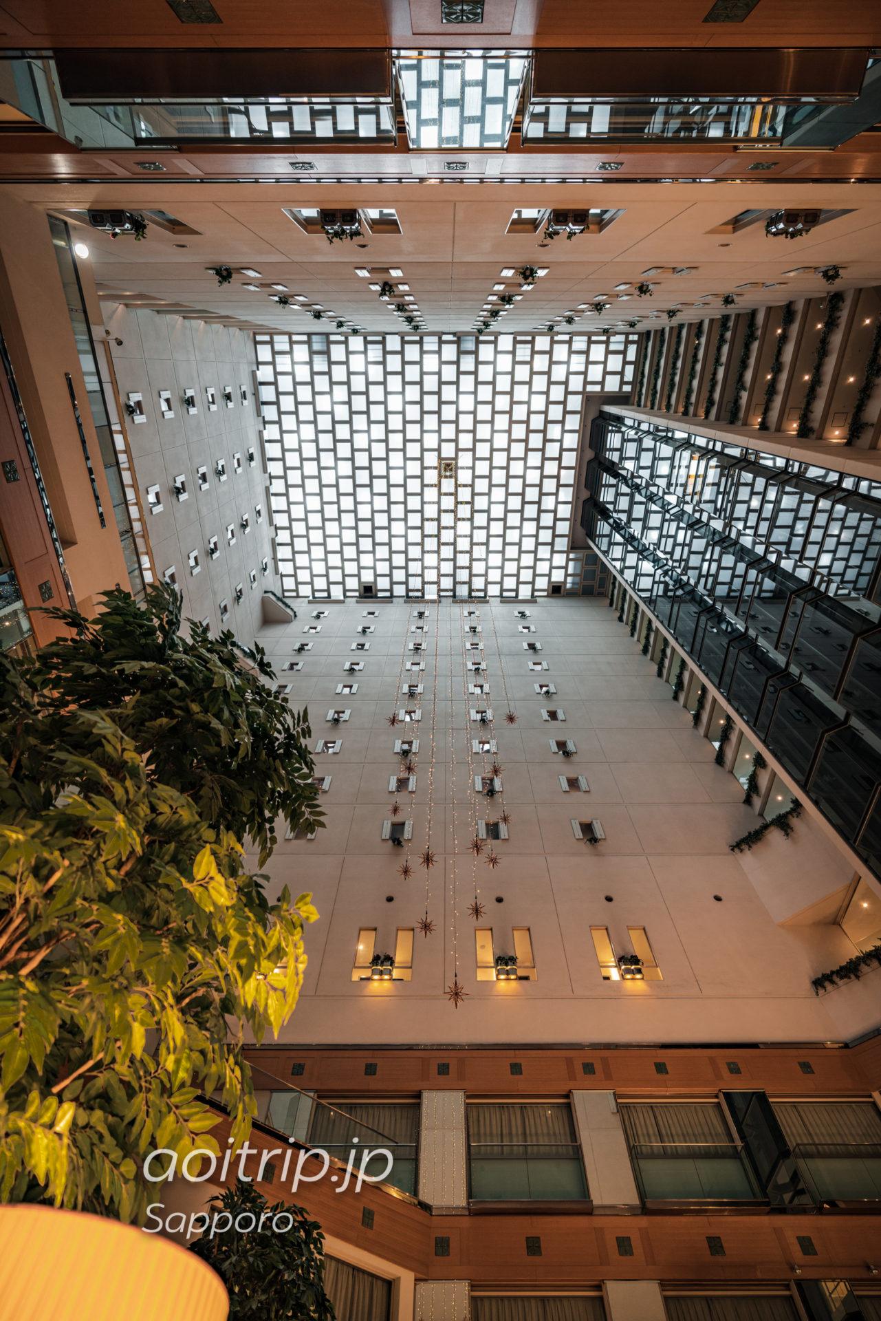 札幌ビューホテルのアトリウム(吹き抜け)