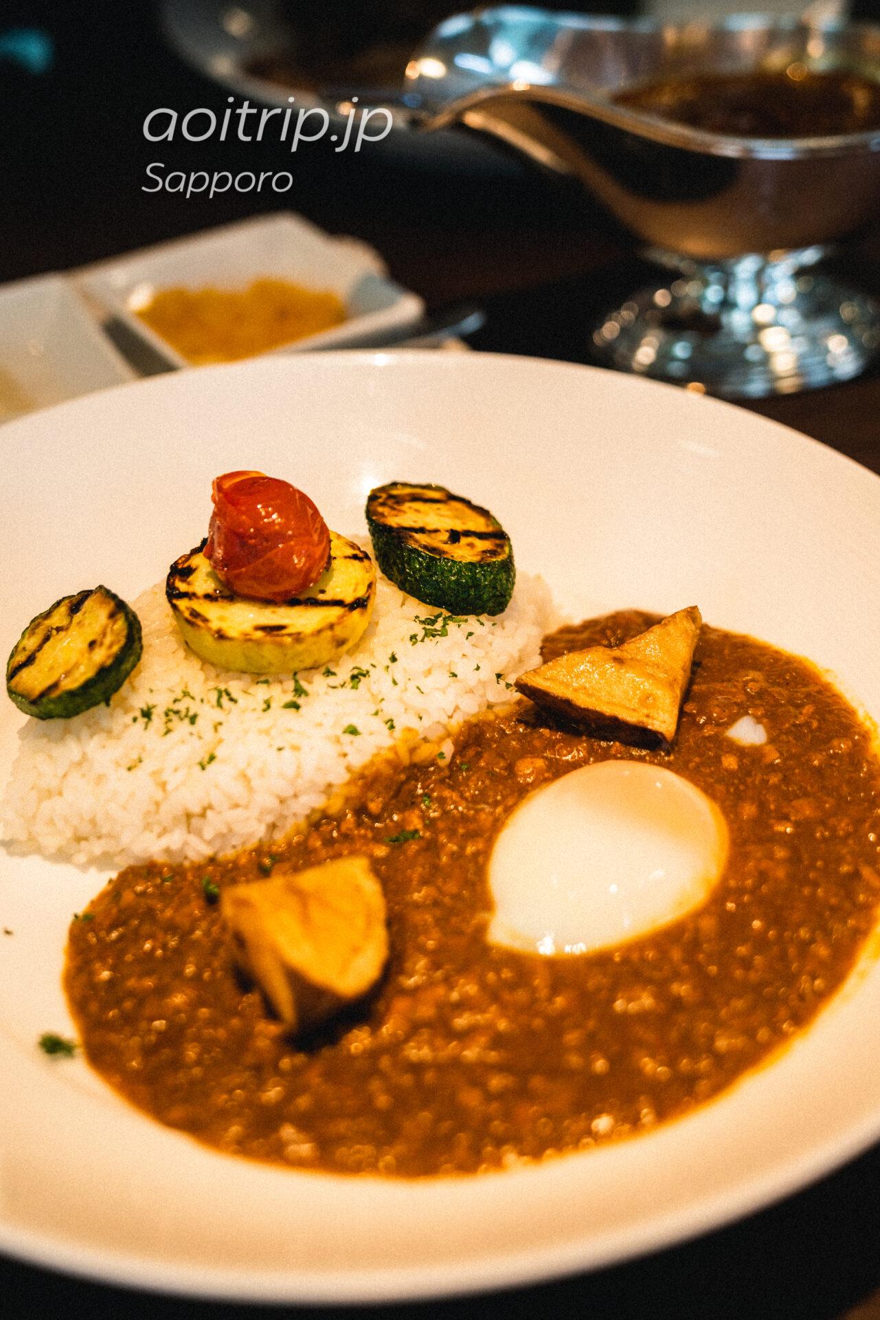 札幌グランドホテルのノーザンテラスライナー 夏野菜グリルのキーマカレー