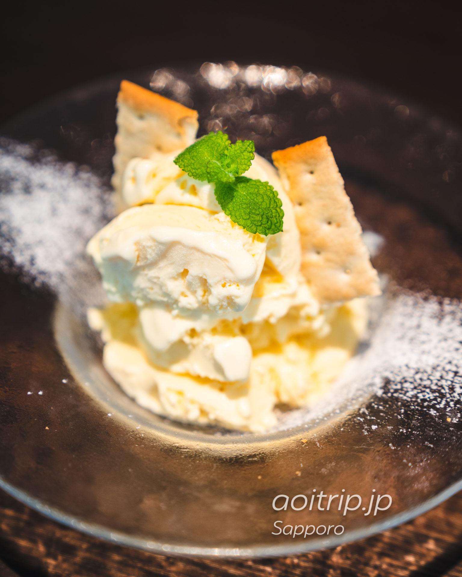 札幌グランドホテルのノーザンテラスライナー 札幌グランドホテル特製バニラアイスクリーム