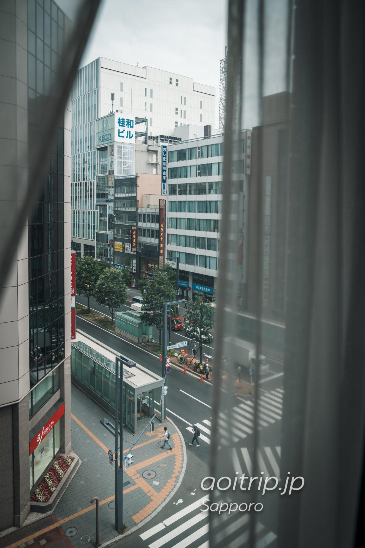 札幌グランドホテルの客室からの眺望