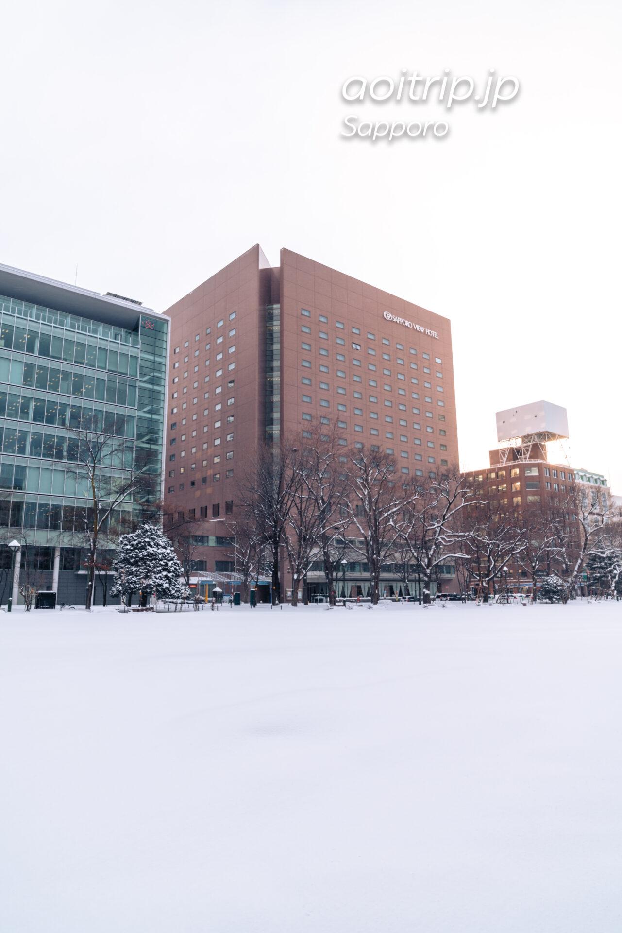 冬の札幌ビューホテル 雪景色