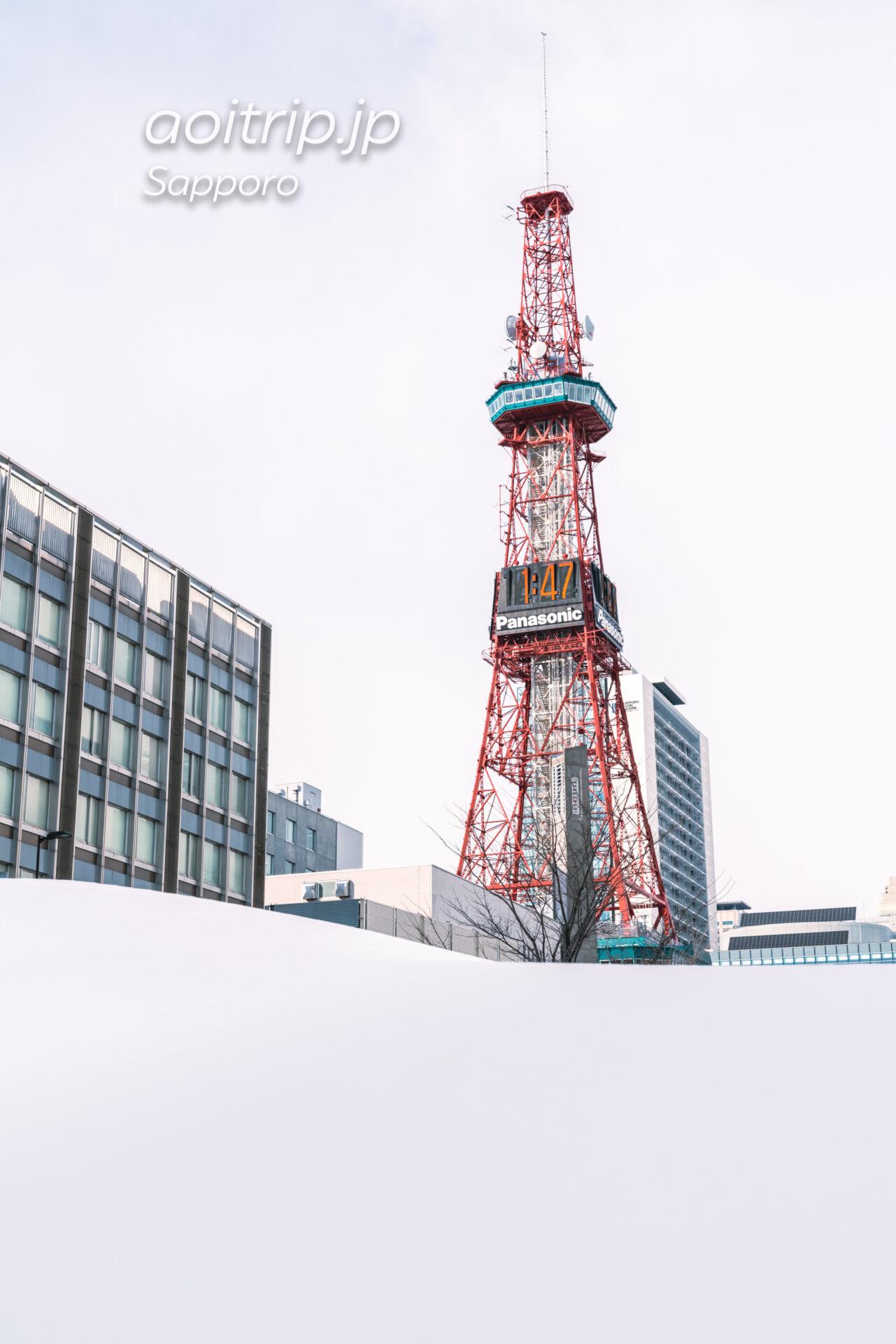 さっぽろテレビ塔と雪景色