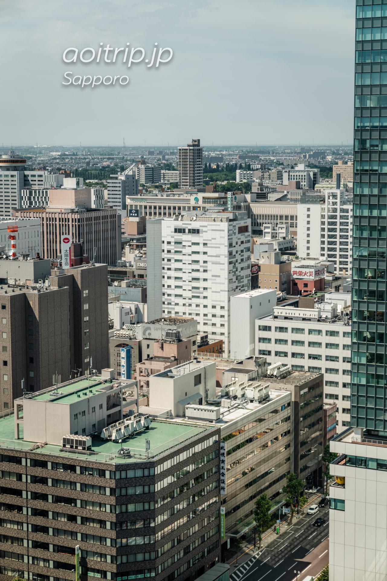 さっぽろテレビ塔の展望台からの眺望