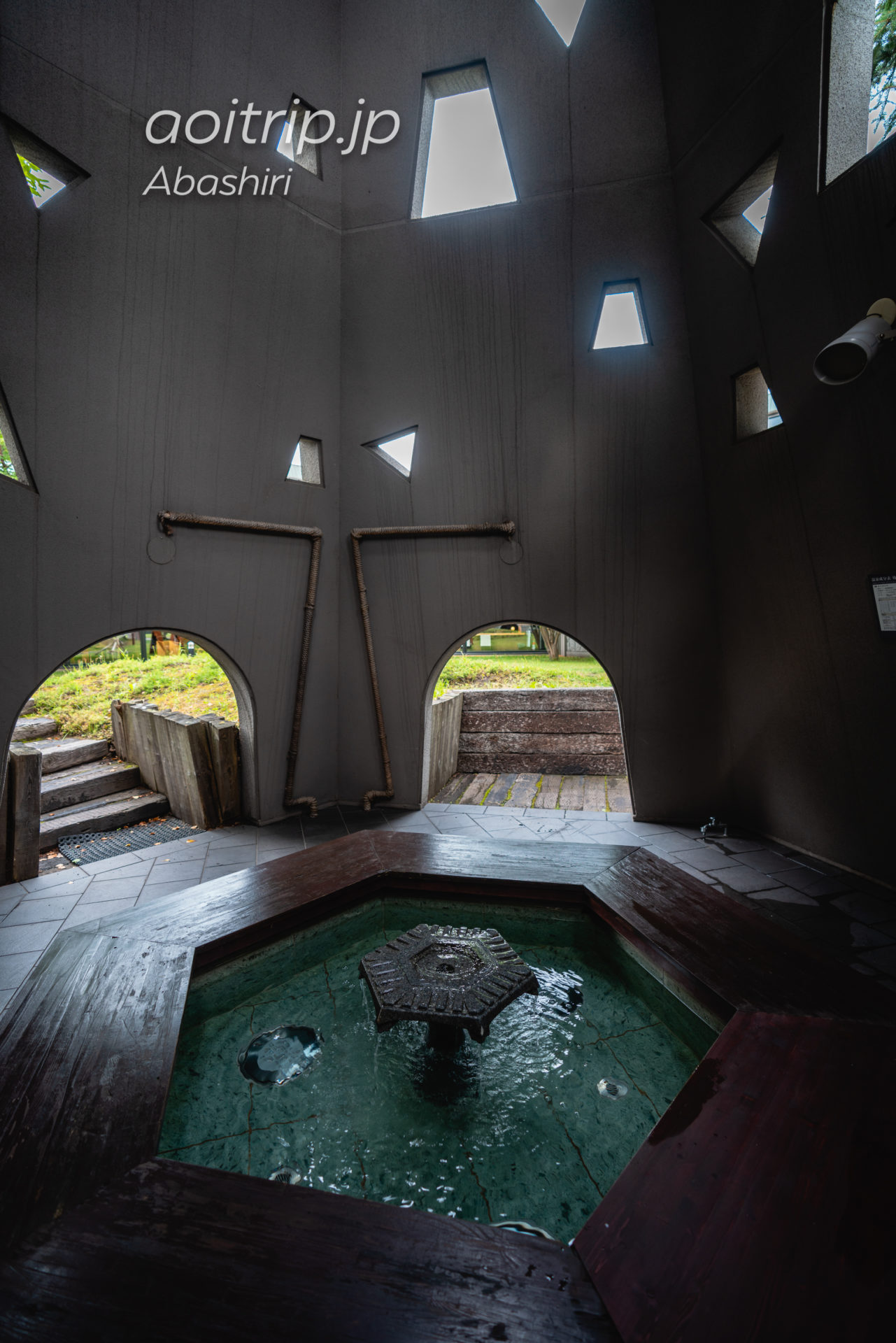北天の丘あばしり湖鶴雅リゾート 宿泊記|Hokuten no Oka Lake Abashiri Tsuruga Resort 火焔の塔(足湯)