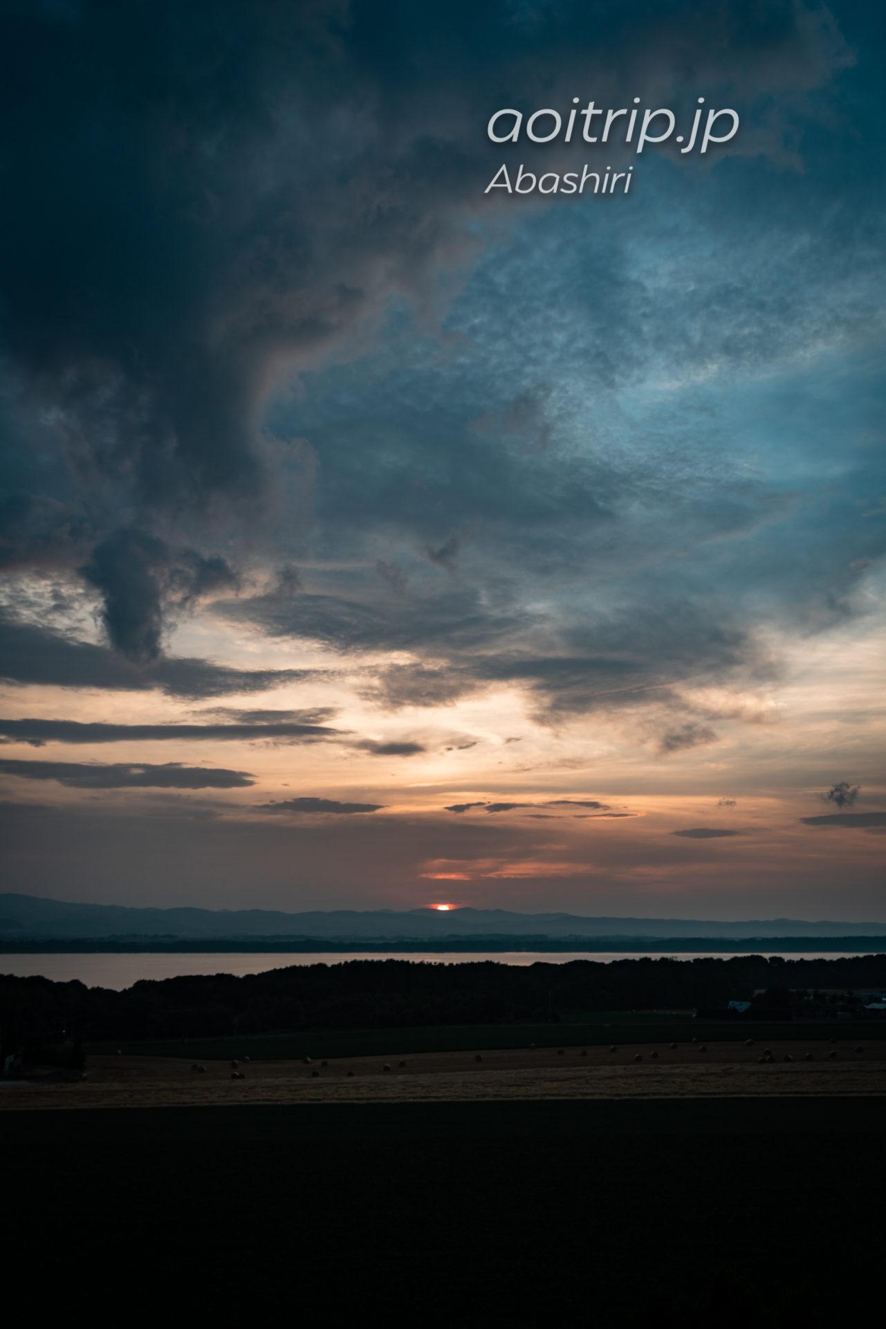 北天の丘あばしり湖鶴雅リゾート 網走湖側の夕日