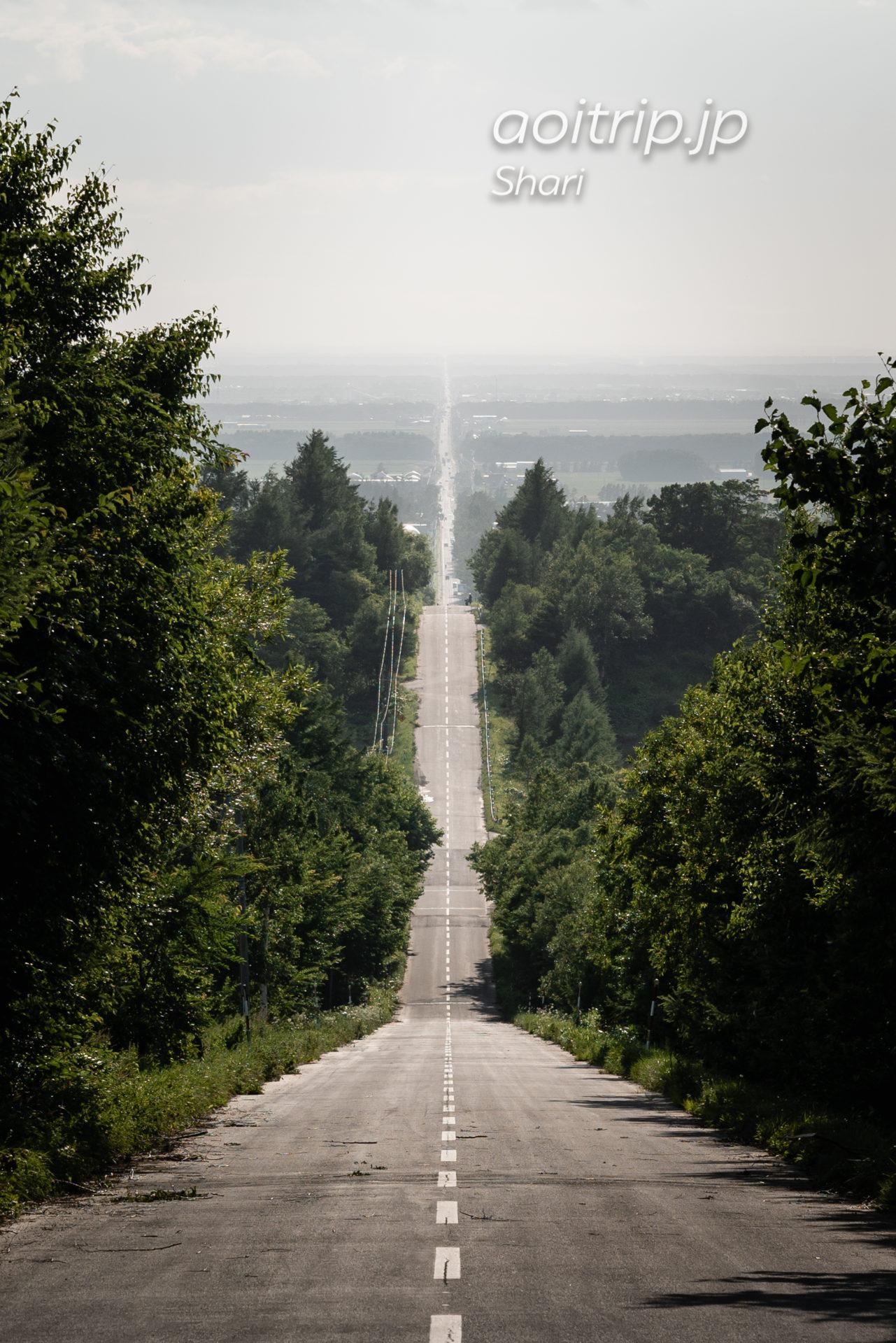 北海道 斜里町 天に続く道 Road to Sky, Shari