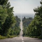 北海道 斜里町 天へと続く道 Road to Sky, Shari